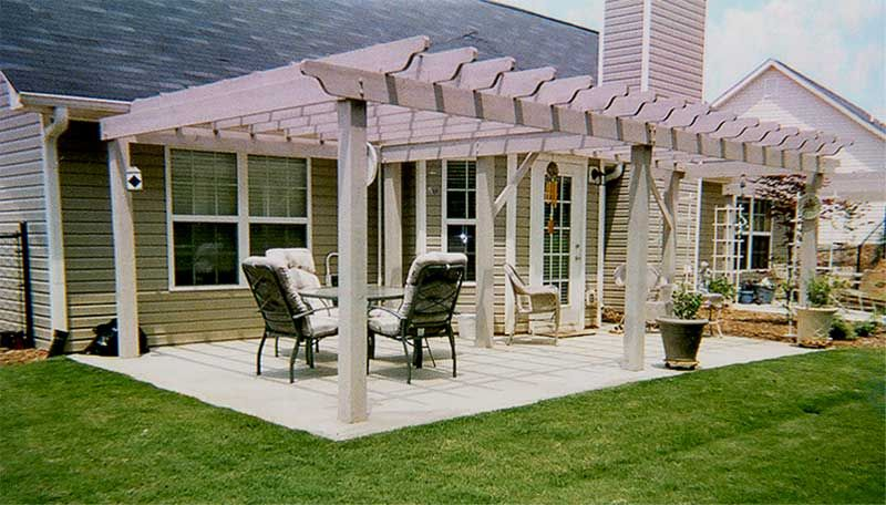 Nice Patio Cover With Wisteria | Patio With Arbor