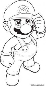 Print Out Coloring Pages Mario Sheet For Kidsfargelegge Tegninger Av