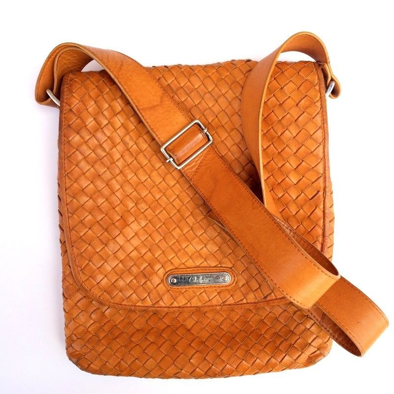 c3f5a55ea3b COLE HAAN Weave Leather Crossbody Bag Mustard Gold RARE #ColeHaan #Crossbody