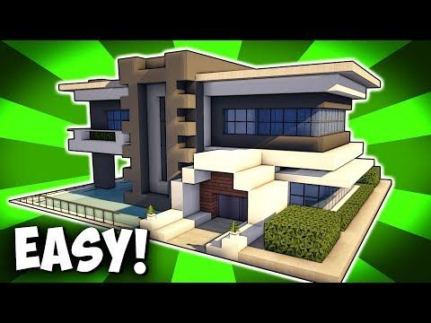 Minecraft modern house tutorial how to build realistic for Casa moderna mansion minecraft