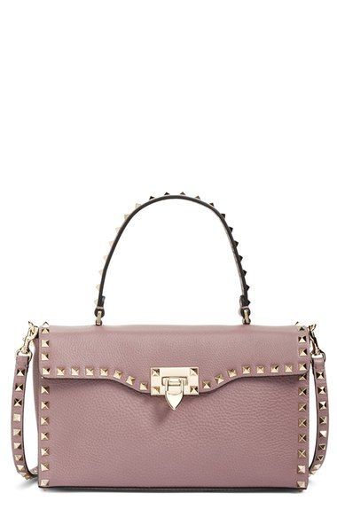 4f0ccddaa0 Valentino 'Rockstud' Calfskin Leather Single Handle Shoulder Bag available  at #Nordstrom