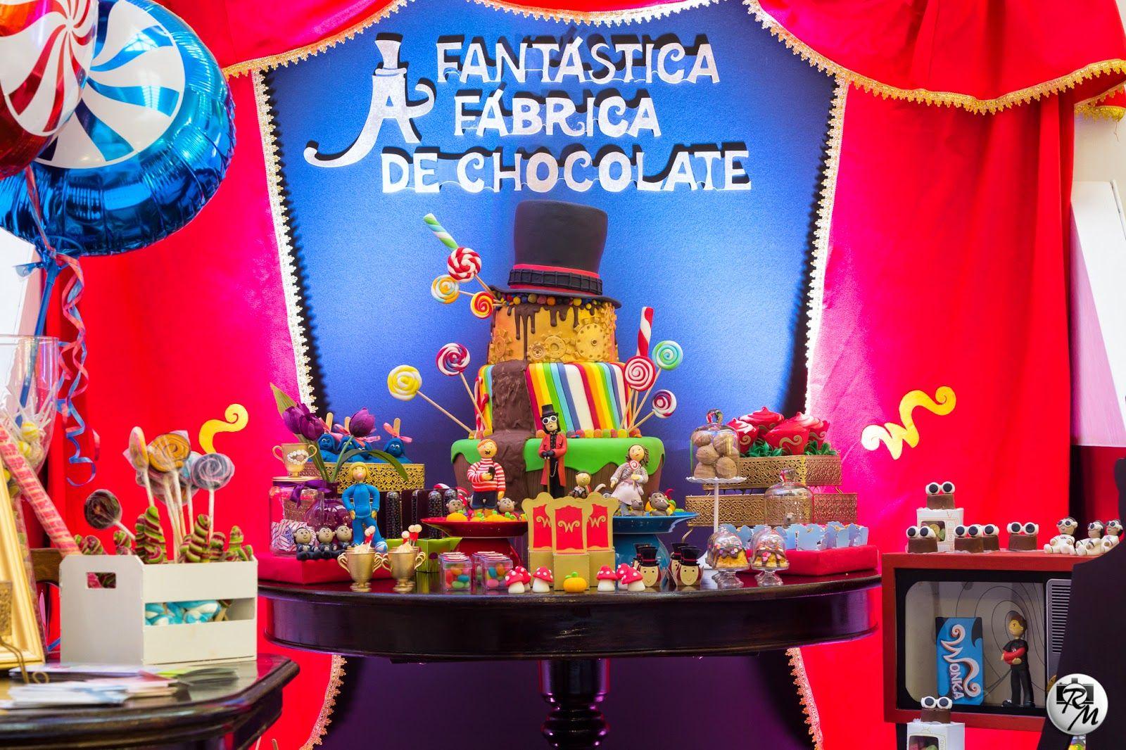 Aniversario A Fantastica Fabrica De Chocolate Pesquisa Google