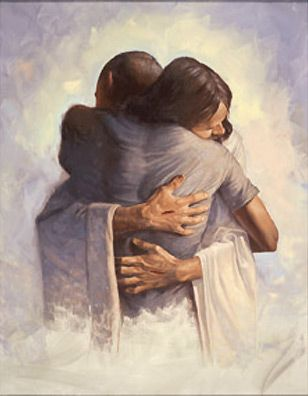 """The Embrace by Chris Hopkins. """"All that the Father gives me will come to me, and whoever comes to me I will never drive away."""" John 6:37"""