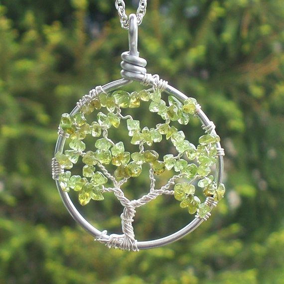 Easy to make for the DIY crafter or you can buy it directly from the seller on Etsy. Use as a pendant or hang in your window for the sun to shine on during the day. The Tree of Life in Sterling Silver and Peridot by HomeBabyCrafts, $32.00. See more at Home Baby Crafts on Facebook.