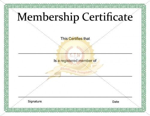 Download And Use One Of Our Membership Certificate Template