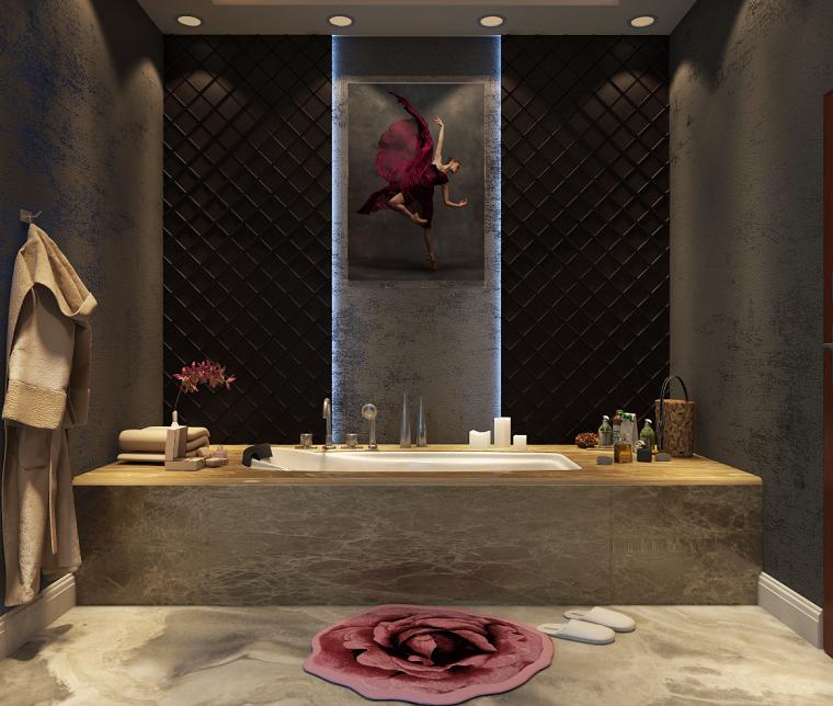 Bagni moderni con vasca simple interno del bagno moderno con vasca da bagno foto di elnur with - Bagni moderni con vasca ...