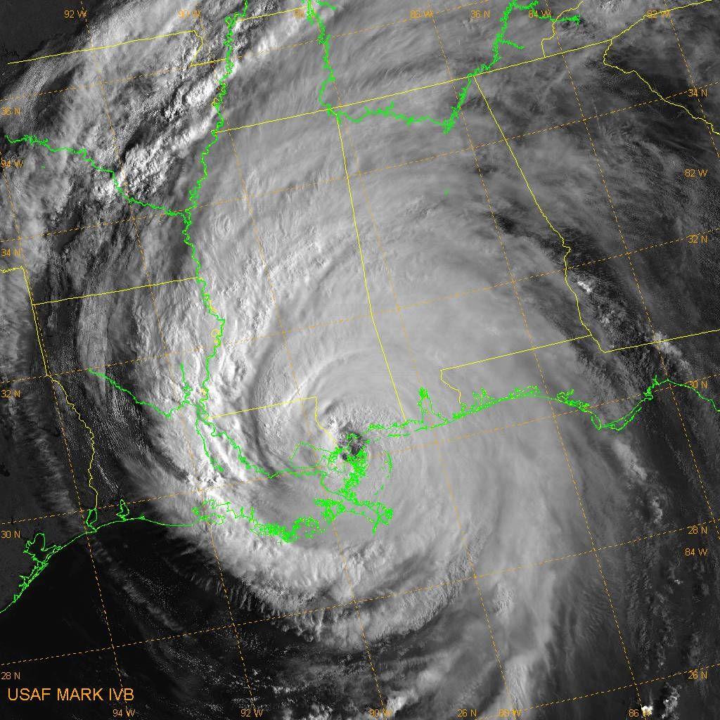 Katrina visible DMSP image
