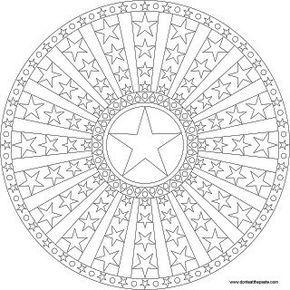 Stars Dots And Stripes Mandala To Color Ausmalbilder Mandala Zum Ausdrucken Muster Malvorlagen