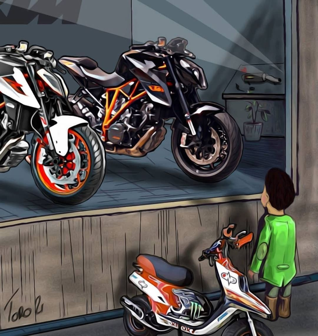 Pin By Raul On Moto With Images Bike Drawing Ktm Bike Riding