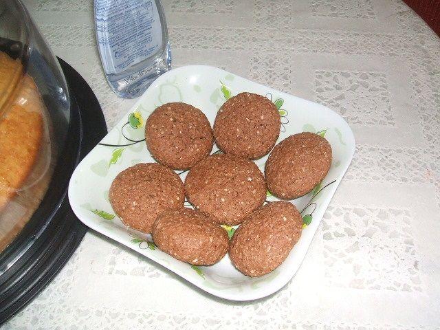 Cookies diet de aveia e chocolate