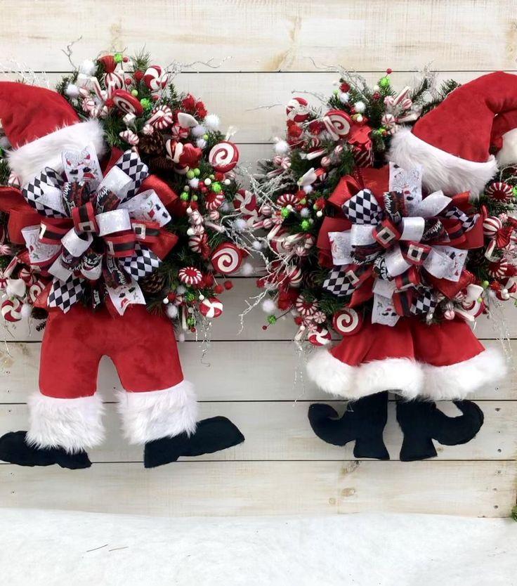 Christmas Double Doors Santa and Mrs. Claus Holida
