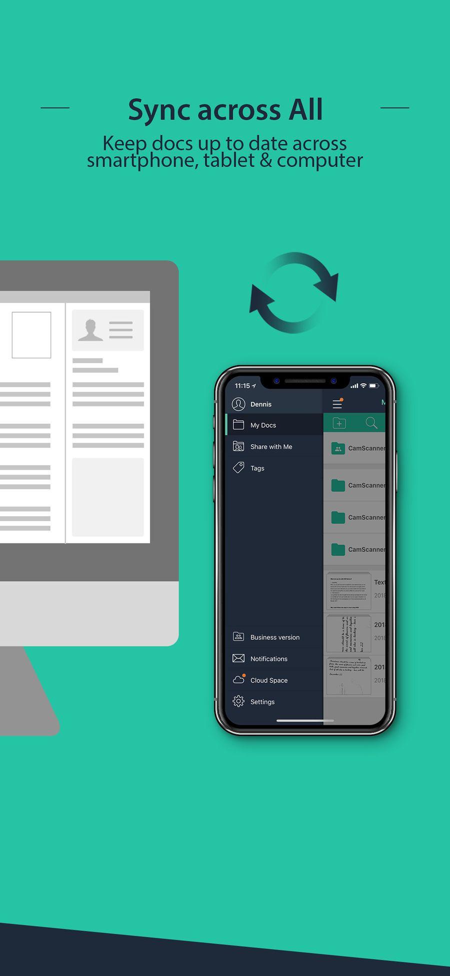 Camscanner document scanner businessproductivityapps