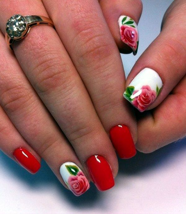 101 Cute Flower Nail Designs Thatre Too Attractive To Handle Nail