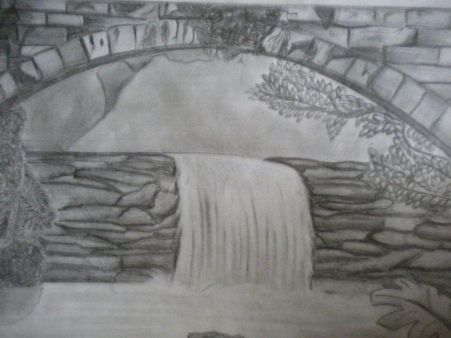 является как нарисовать картинки водопадов с камнями полезна