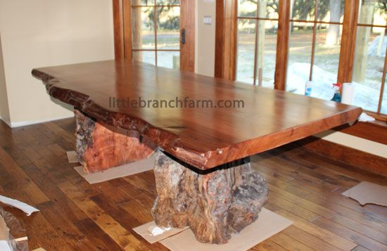 Rustic Dining Table Handcrafted At Littlebranch Using Ethically Sourced  Live Edge Wood Slabs Native To The USA Forest Floor Or Dead Standing Trees