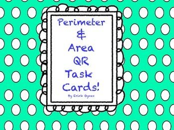 Perimeter and Area QR Task Cards