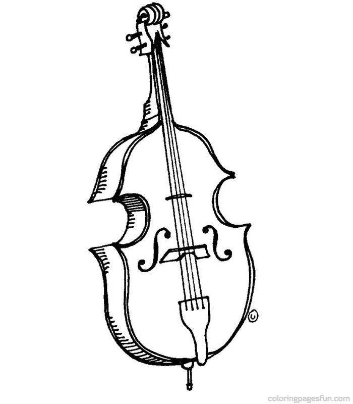 musical instruments coloring pages 55 | jazz | pinterest | musical ... - Musical Instrument Coloring Pages