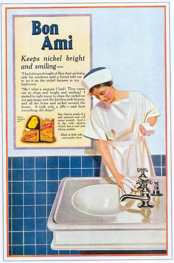 HOUSE CLEANING Bon Ami (1918) advertisement Women in Vintage