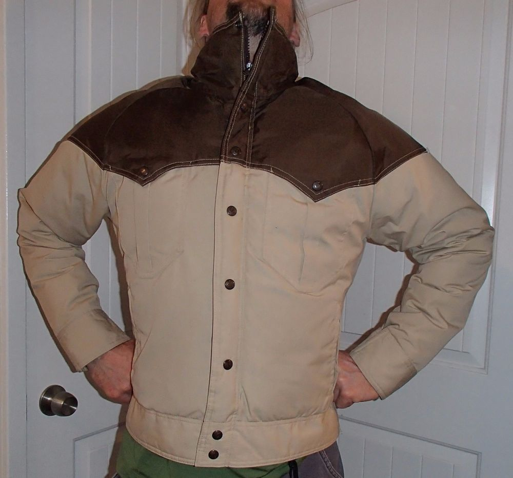6e3801e8e vtg 70's DOWN western puffy powderhorn ski jacket mountaineering coat men  medium #sierratrails #Puffer
