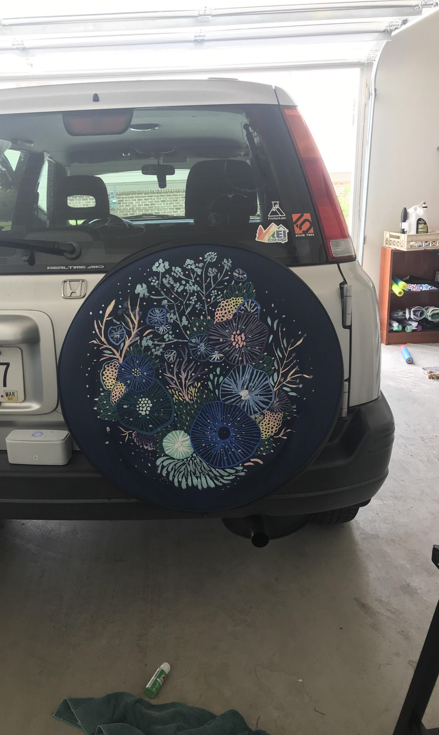 My Spare Tire Cover That I Painted With Images Jeep Tire