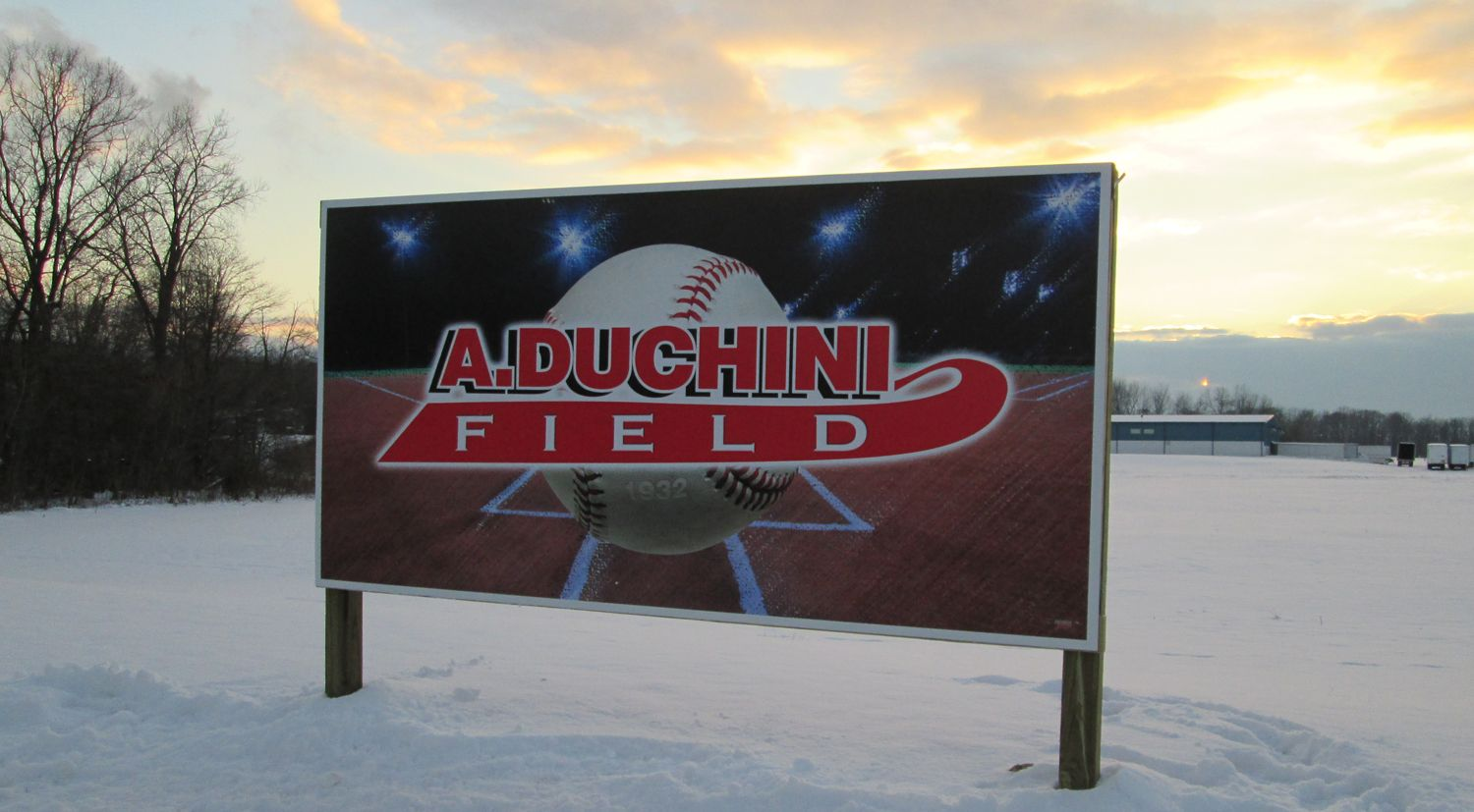 4' x 8' sign on composite aluminum panels, finished with digitally-printed vinyl.