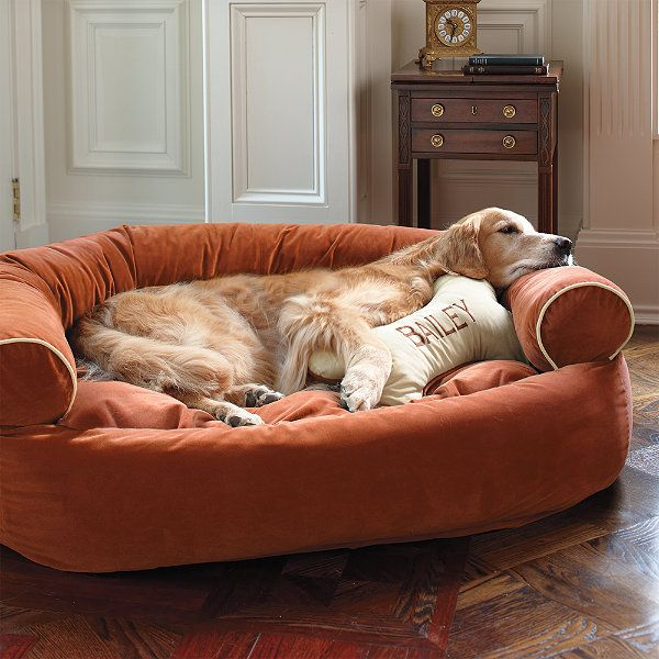 Personalized Bone Dog Pillow   Siren & Sadie   Dog couch