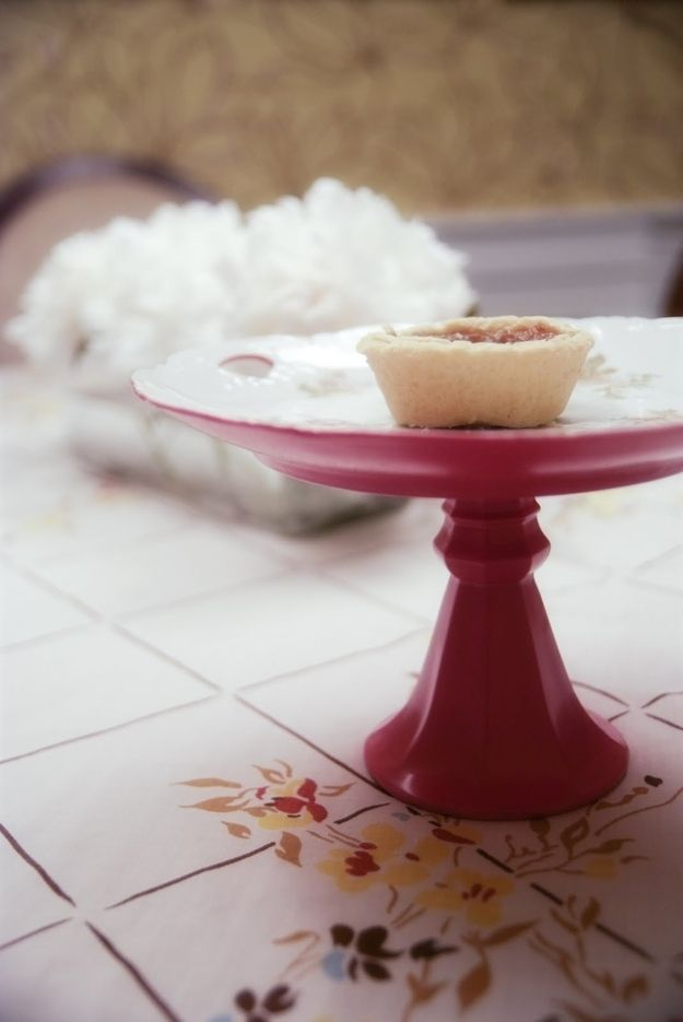 Rambling Renovators: Cake Stand | 22 Crafts To Make You Fall In Love With DIYing
