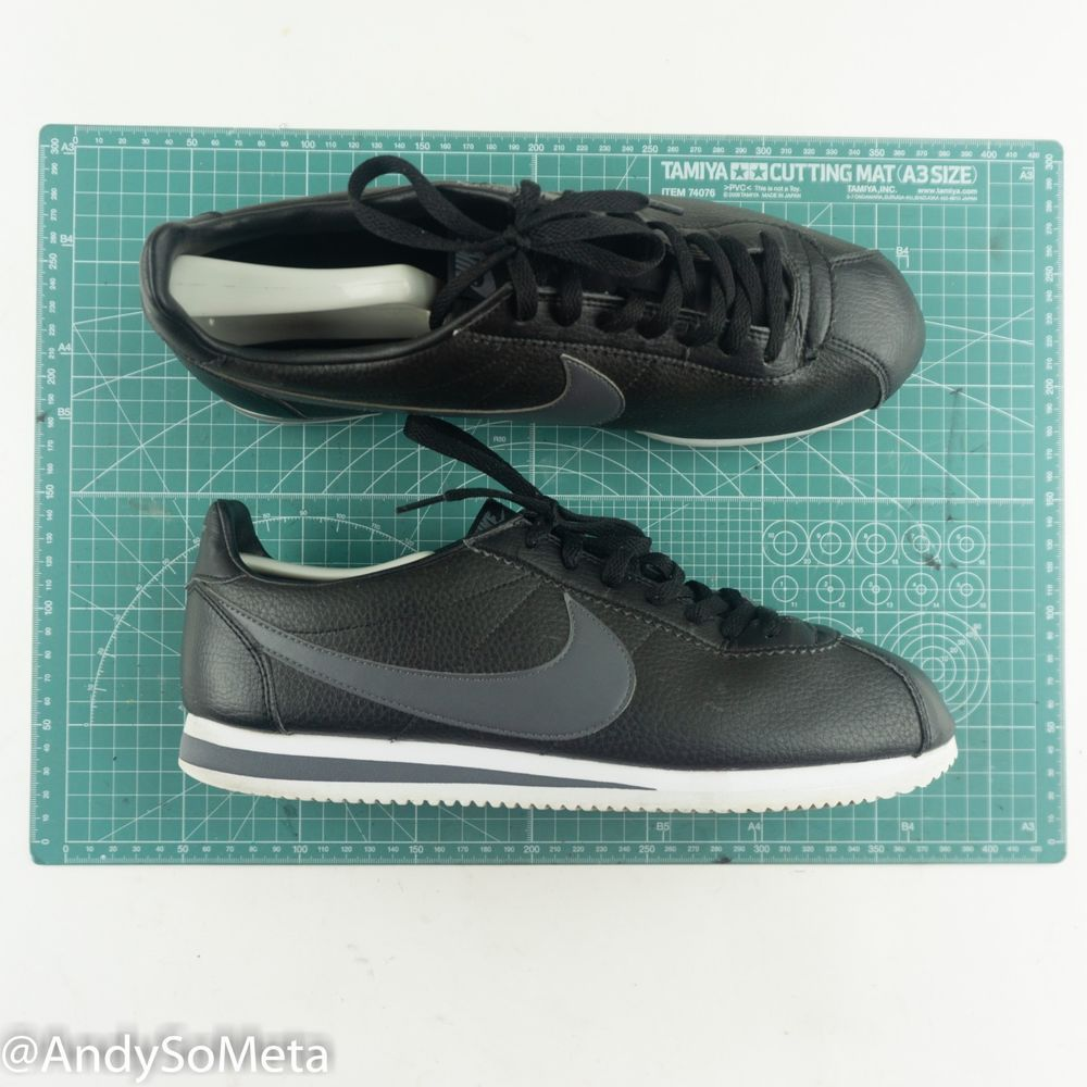 new products e05e3 0016f Nike Cortez Men s Size US 11 CM 29 Leather Black Athletic Running Traning  Shoes   eBay