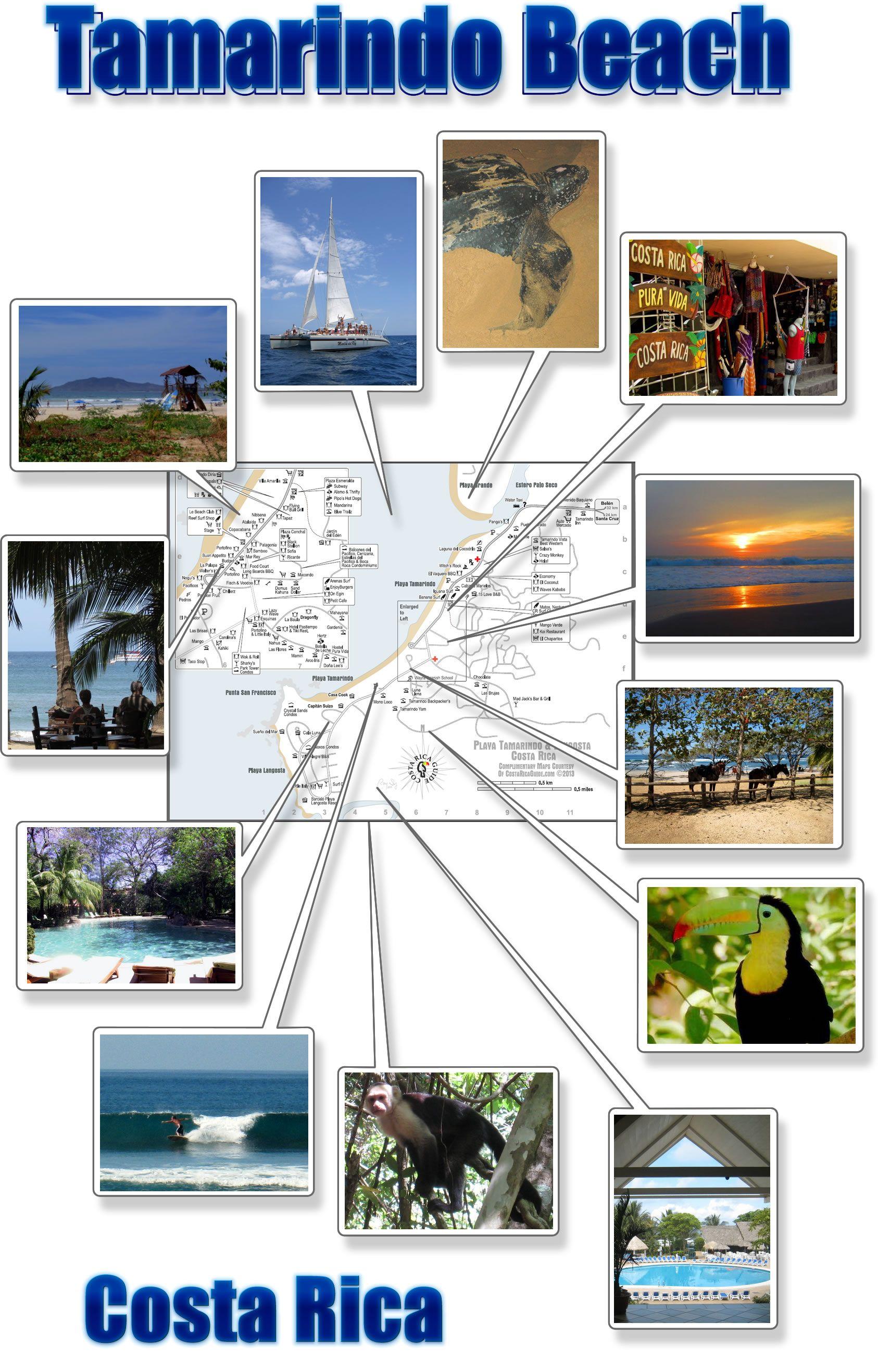 playa tamarindo costa rica map Tamarindo Beach Map Free Printable Download Including playa tamarindo costa rica map