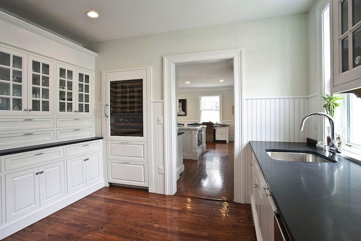 High Quality Pricey Pads   Kitchens   Beadboard, Backsplash, White, Glass Front, Kitchen