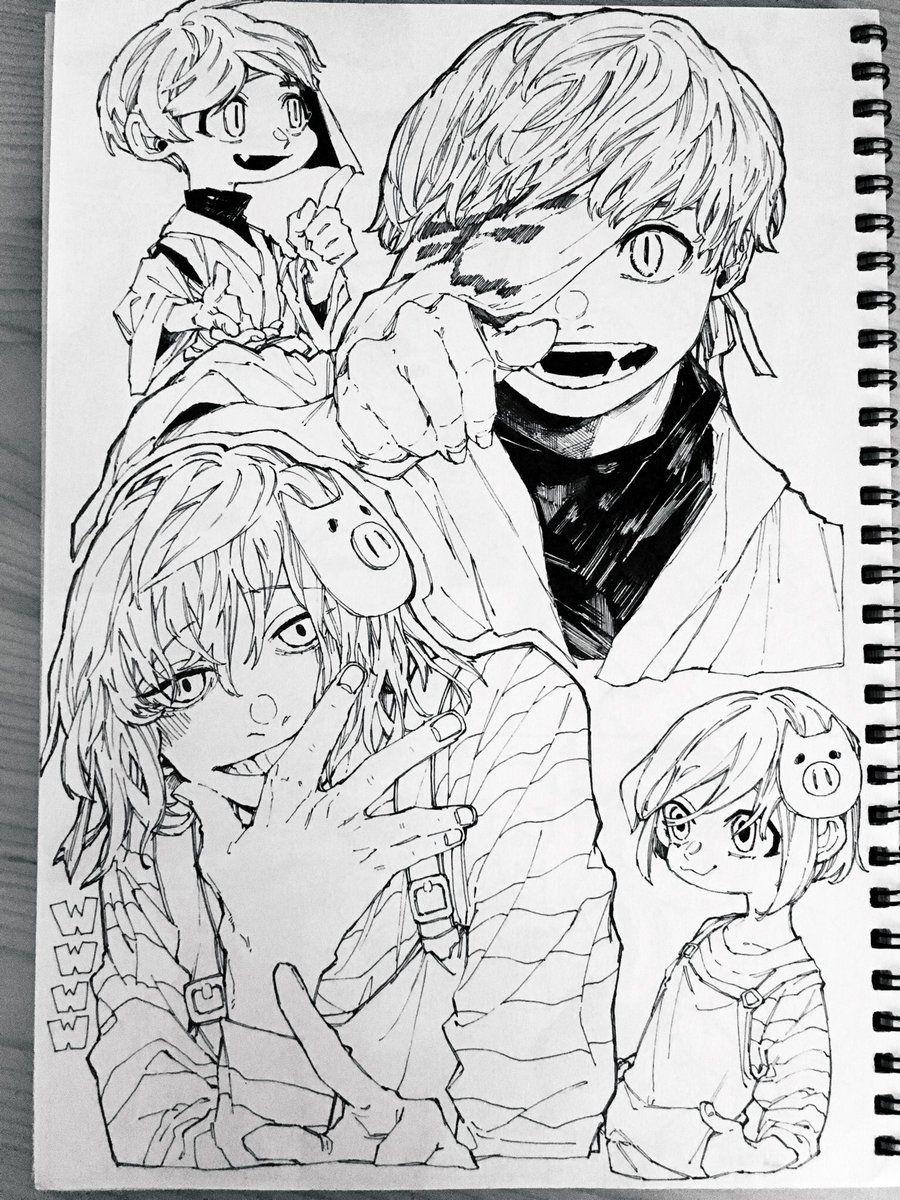 茶太郎 on twitter character art art sketches anime drawings sketches