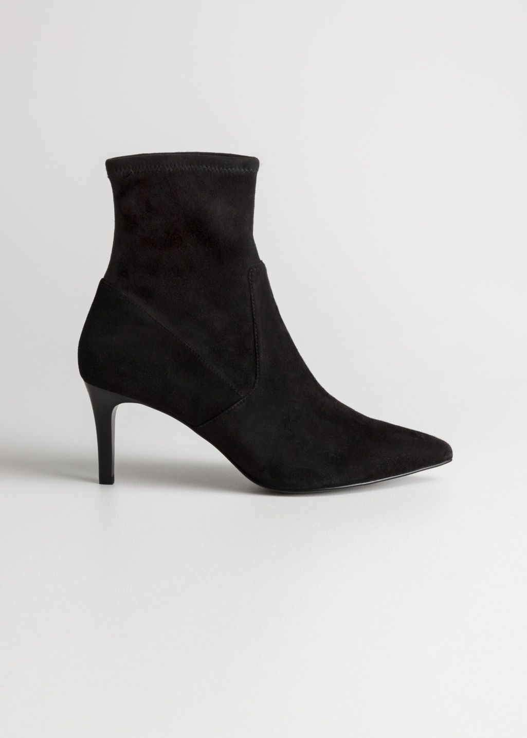 Suede Sock Boots Kitten Heel Boots Kitten Heel Ankle Boots Boots