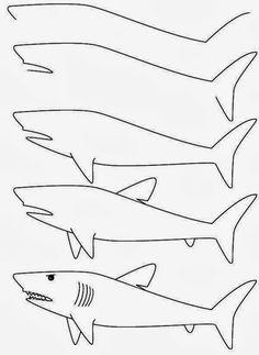 Como Aprender A Dibujar Un Tiburon 2 Dibujo De Tiburon Tiburones Para Ninos Como Dibujar Un Pez