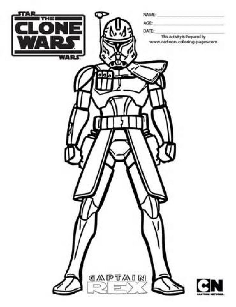 Star Wars Clone Trooper Coloring Pages Annexhub pertaining to Clone ...
