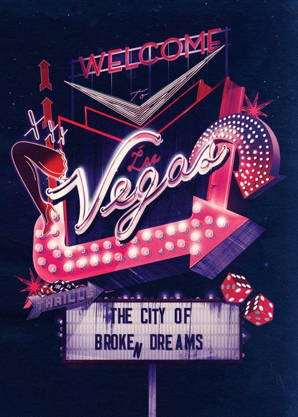 City Neon Typography Illustrations By Ilovedust Travel