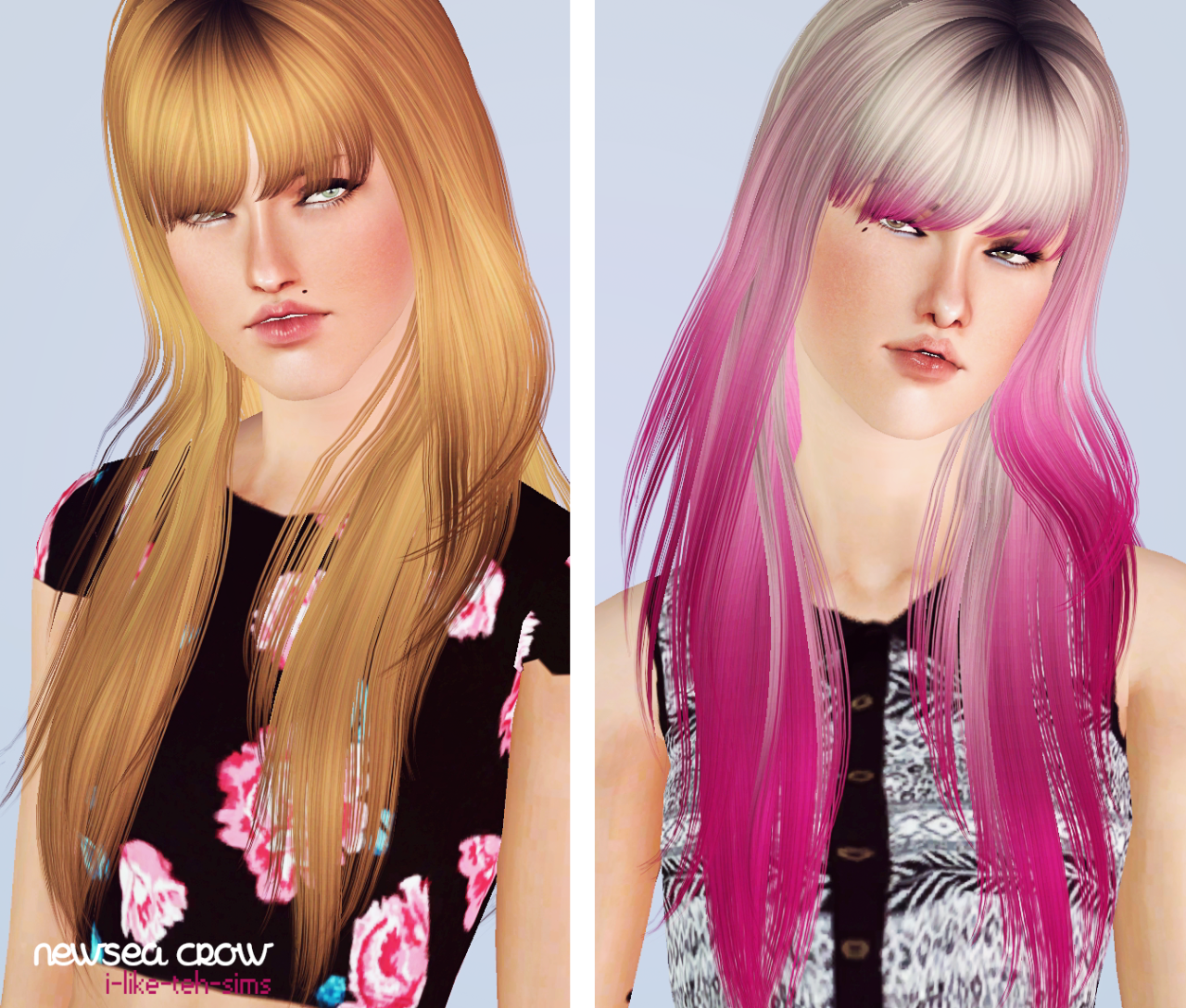 The sims 4 hair accessories - I Like Teh Sims Newsea Crow Aw This Hair Is Sweet Without Those Scary Ass Bun Things Of Course I Removed Them Completely For This Retexture
