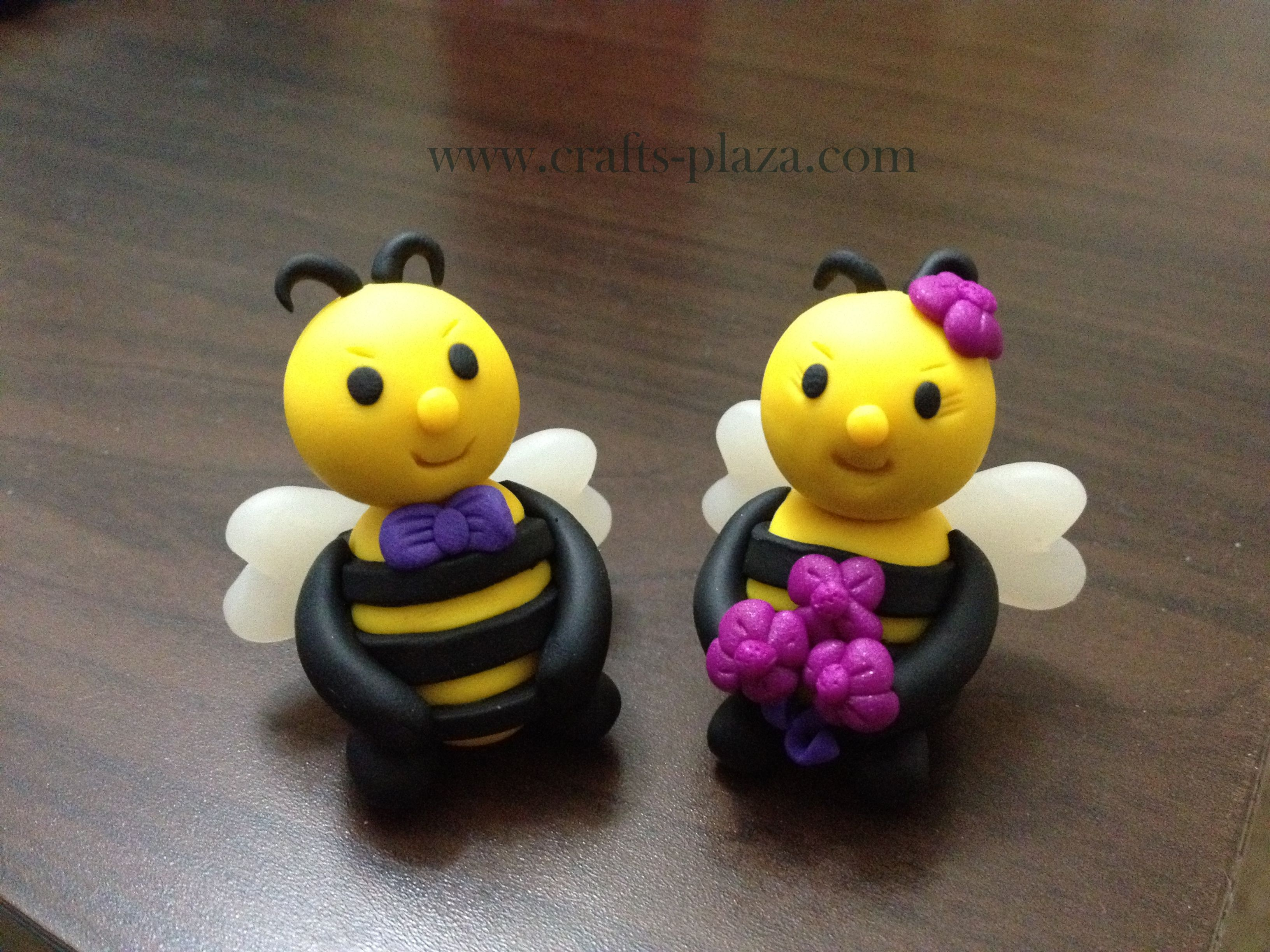 Ble Bee Wedding Cake Topper On Www Crafts Plaza
