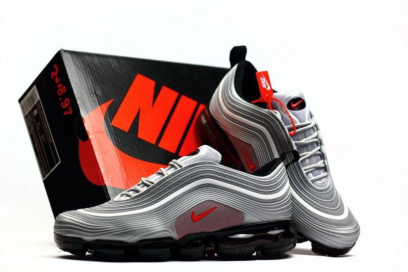 New Nike Air Max 97 KPU Vapormax 2018 Silver Grey Red Men