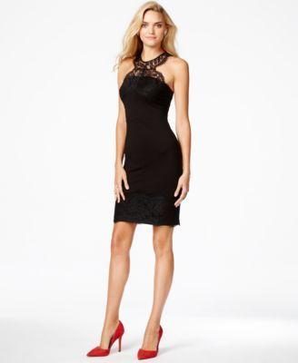 6536033b212b1 GUESS Lace-Trim Sheath Dress Kohls Dresses, Dresses Online, Black Cocktail  Dress,
