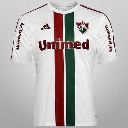 eb2ad8faa6911 Camisa Fluminense II 14 15 s nº Torcedor Adidas Masculina - Branco e ...