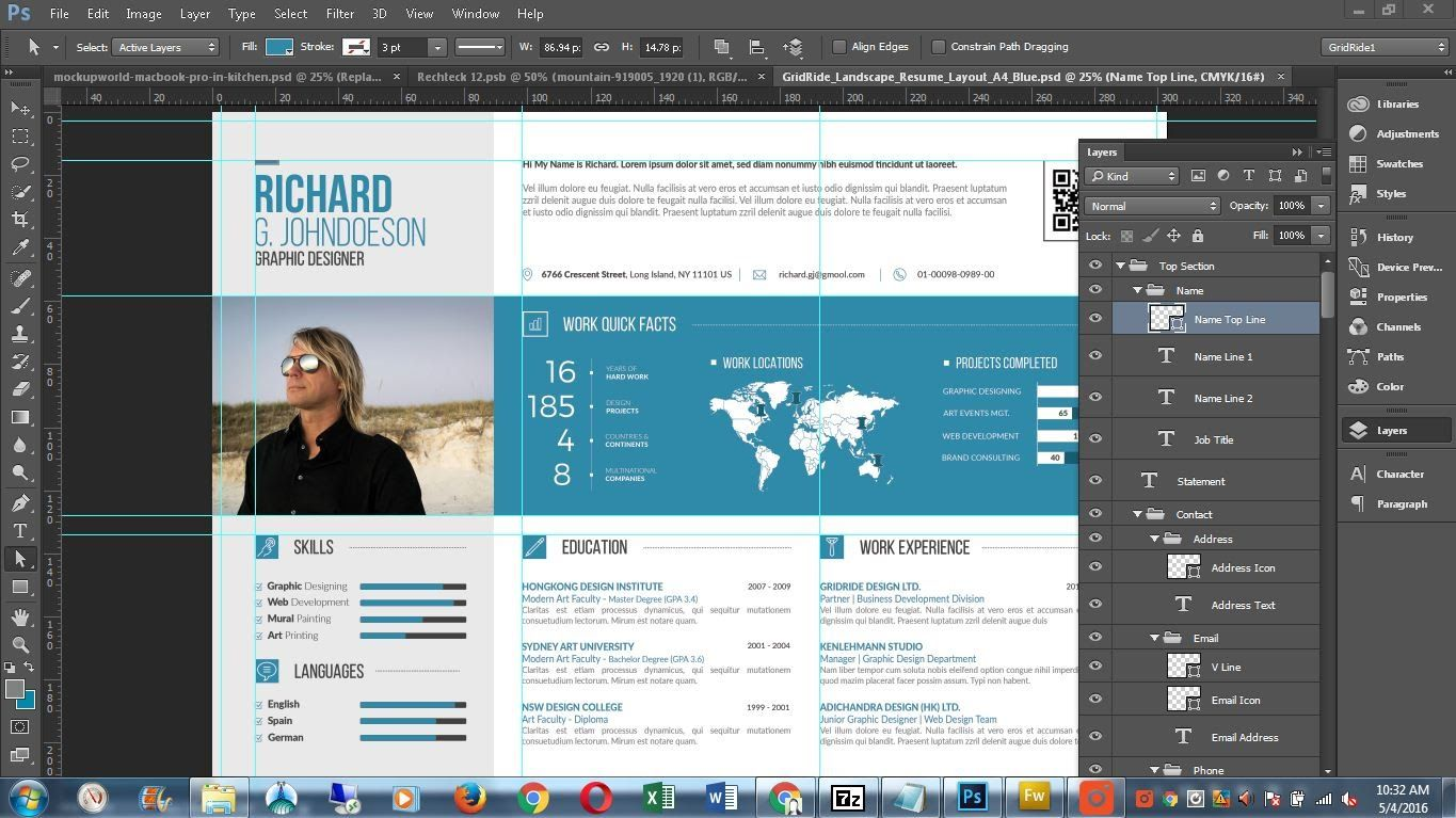 Image Result For Infographic Cv Word Templates Infographic