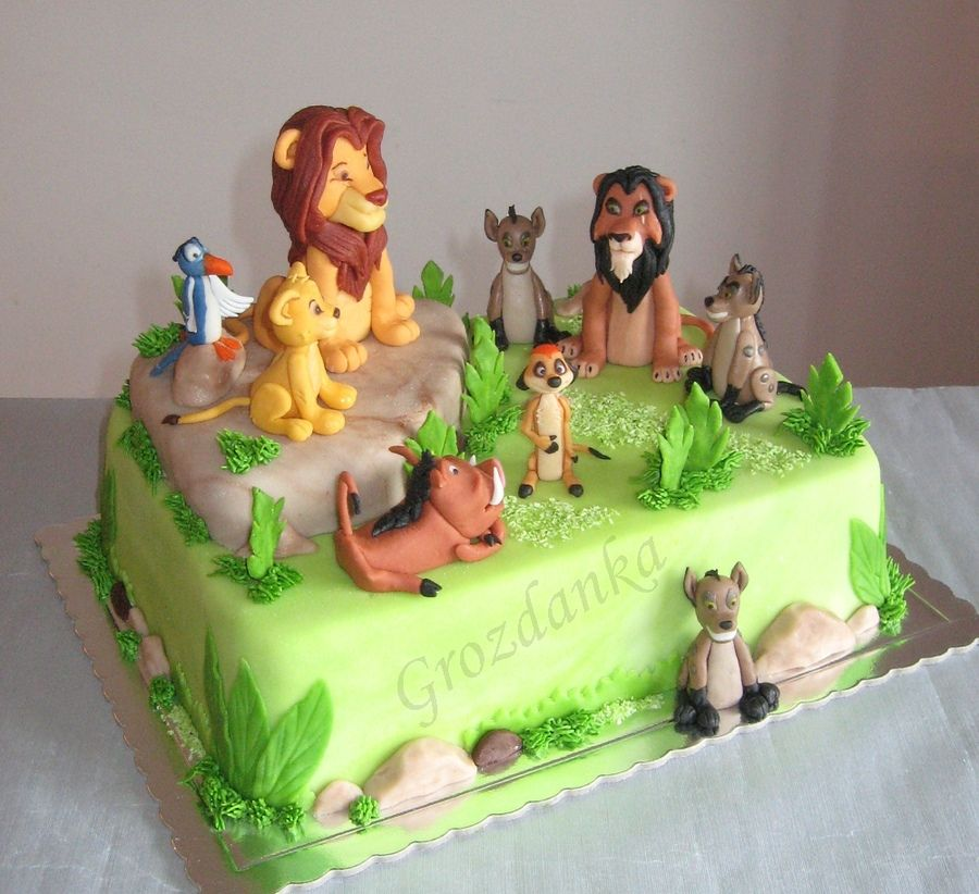 Lion King  Childrens Birthday Cakes Cakes Pinterest - Lion birthday cake design