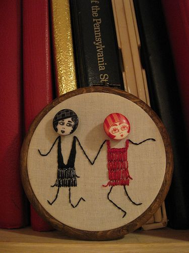 flapper embroidery