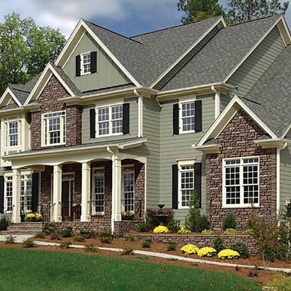 Vinyl And Brick Exterior Homes