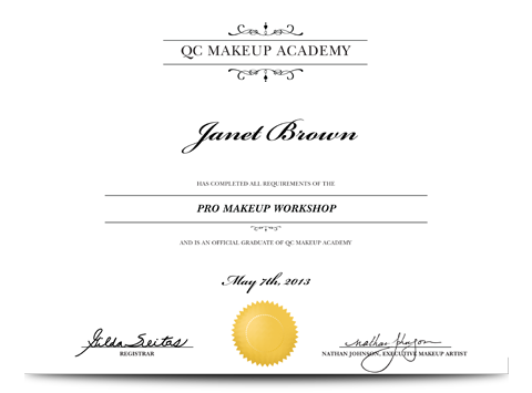 Pro Makeup Workshop certificate | Everything Nails: Polish, Acrylic ...