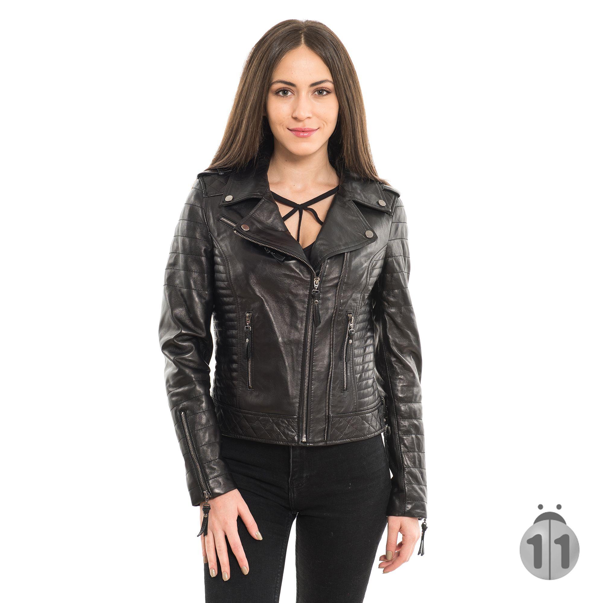 100 Koyun Derisi Bayan Motorcu Siyah Ceket Leather Jacket For Women Siyah Ceketler Siyah Deri Ceketler Siyah