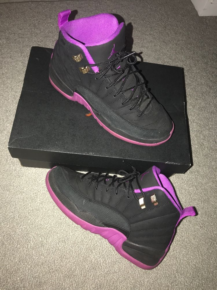 competitive price 52c90 9a8e0 jordan retro 12 Black And Purple Size 7.5y #fashion ...