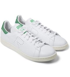 adidas Originals Raf Simons x Adidas Green/White Stan Smith Sneakers Model Picture