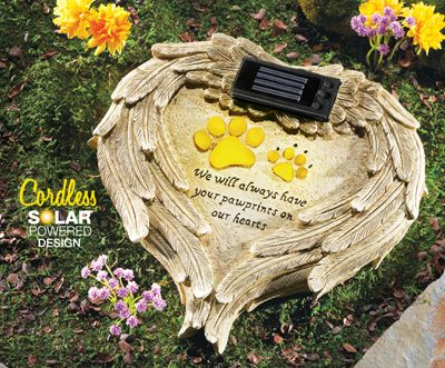 Solar Angel Wings Pet Memorial Stone Pet Products For