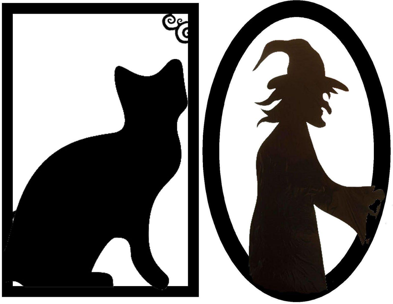 halloween decorations ideas framed creepy silhouette decorations free halloween printable - Halloween Cat Decorations